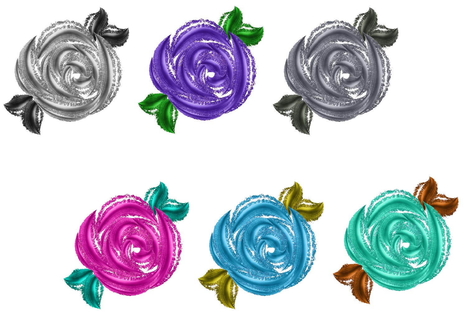 Metallic Roses Clipart example image 2