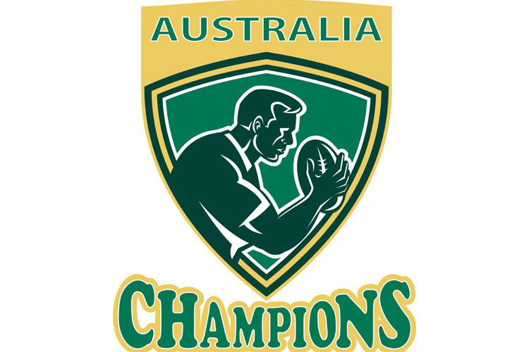Rugby player Australia Champions shield example image 1