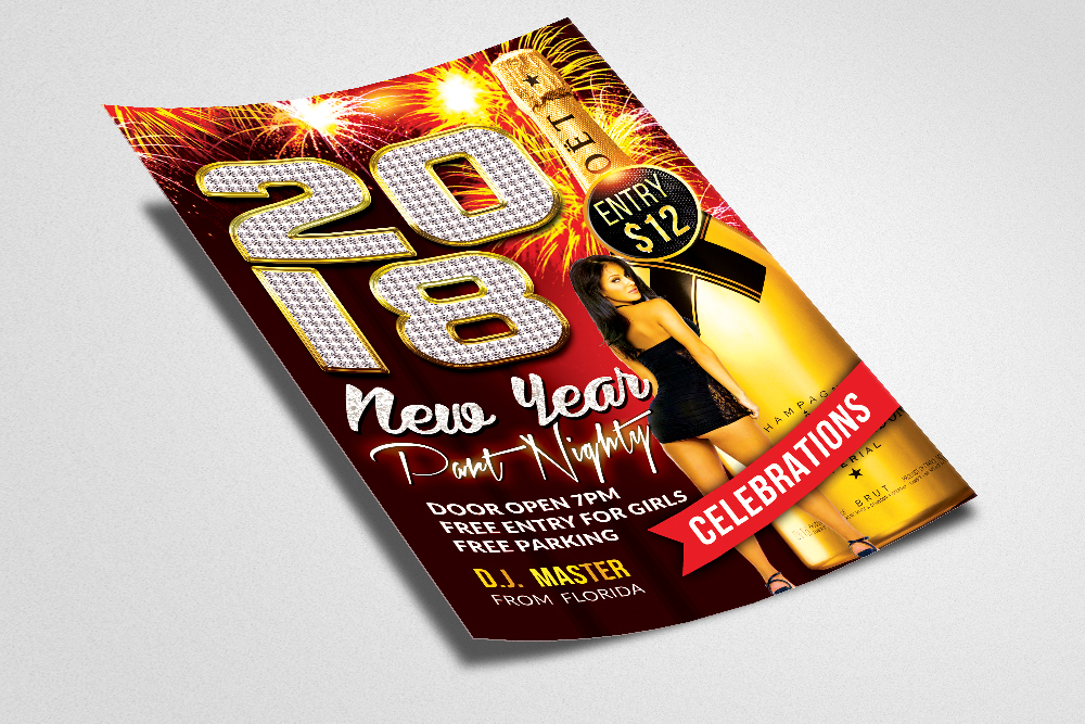 Happy New Year Flyer example image 2
