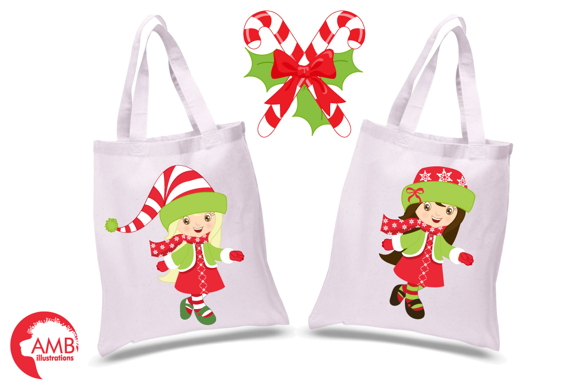 Christmas girls clipart, graphics, illustrations AMB-189 example image 4