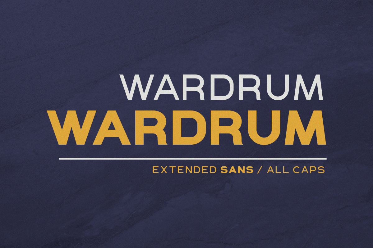 WARDRUM - Expanded Sans example image 1