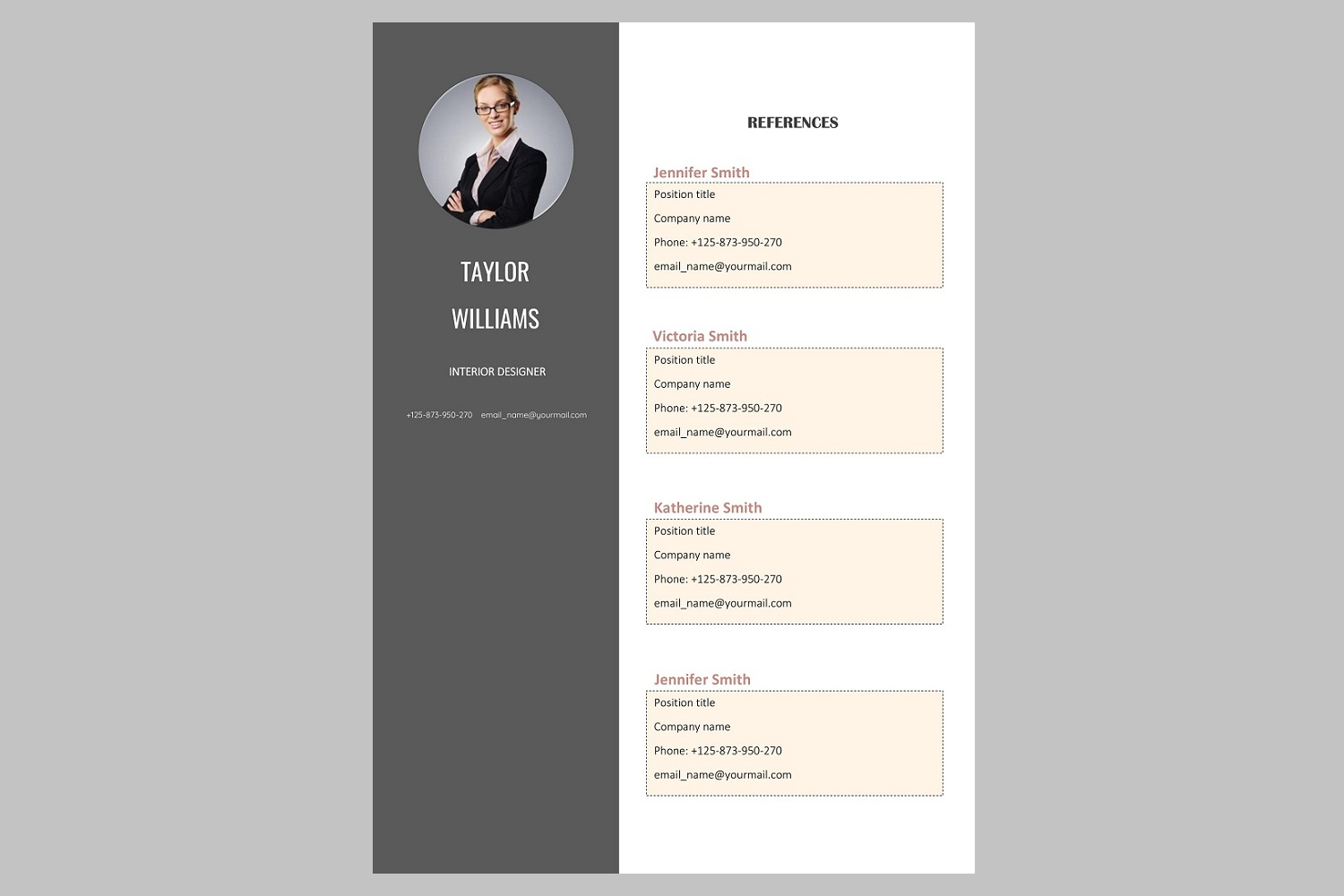 Creative resume template / CV example image 4