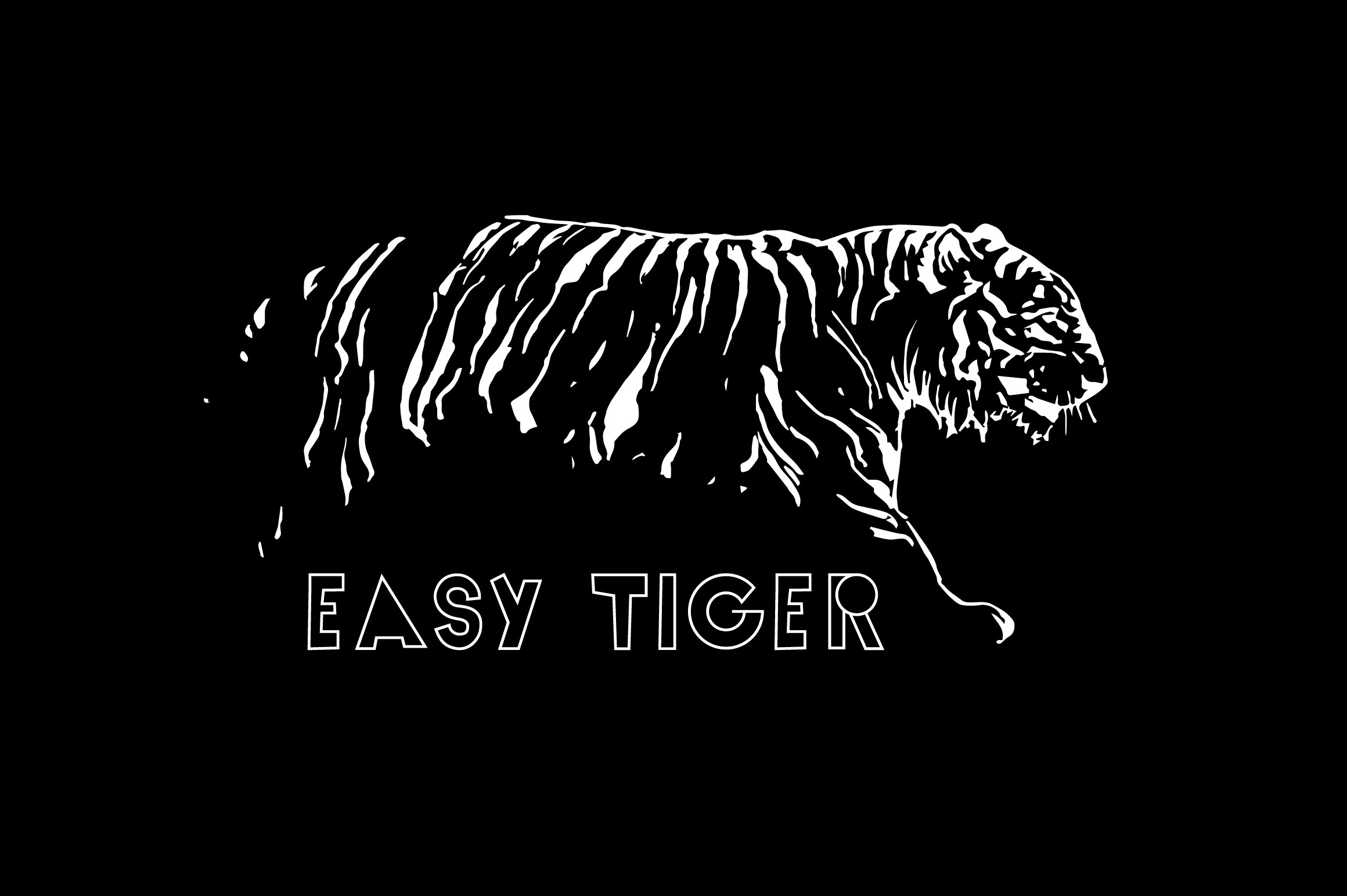 Easy Tiger | Outline and Black example image 4