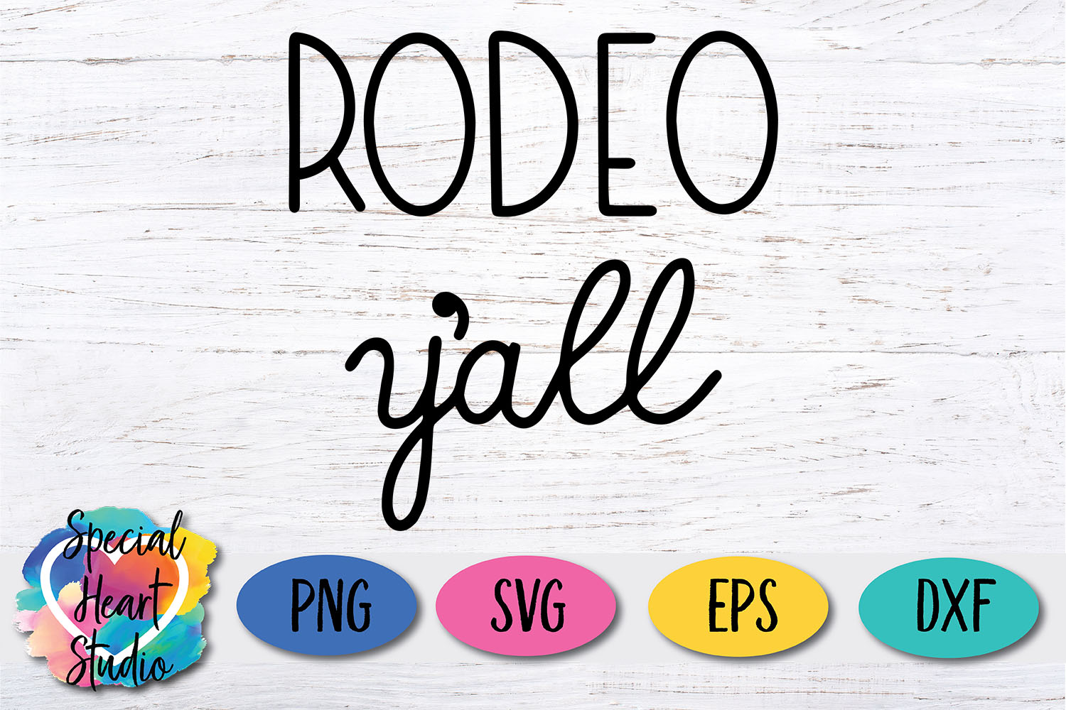 Rodeo y'all SVG - A hand lettered rodeo cut file example image 2