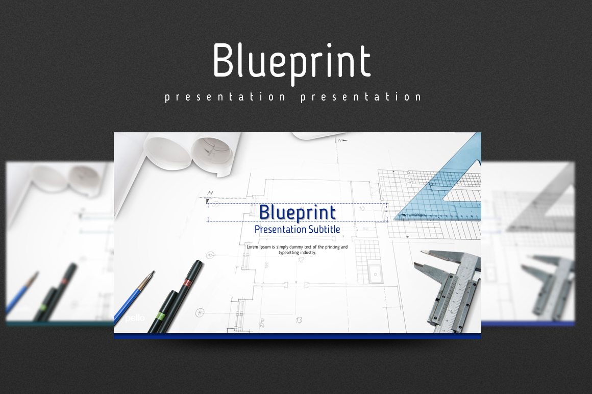 Blueprint PowerPoint Template example image 1