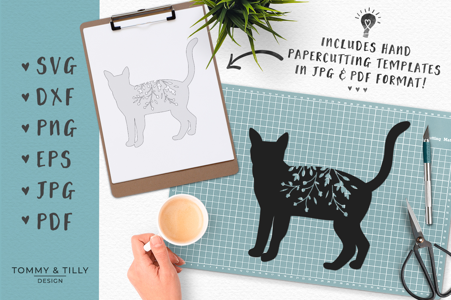 Download Cat No.1 Silhouette - SVG DXF PNG EPS JPG PDF Cutting File