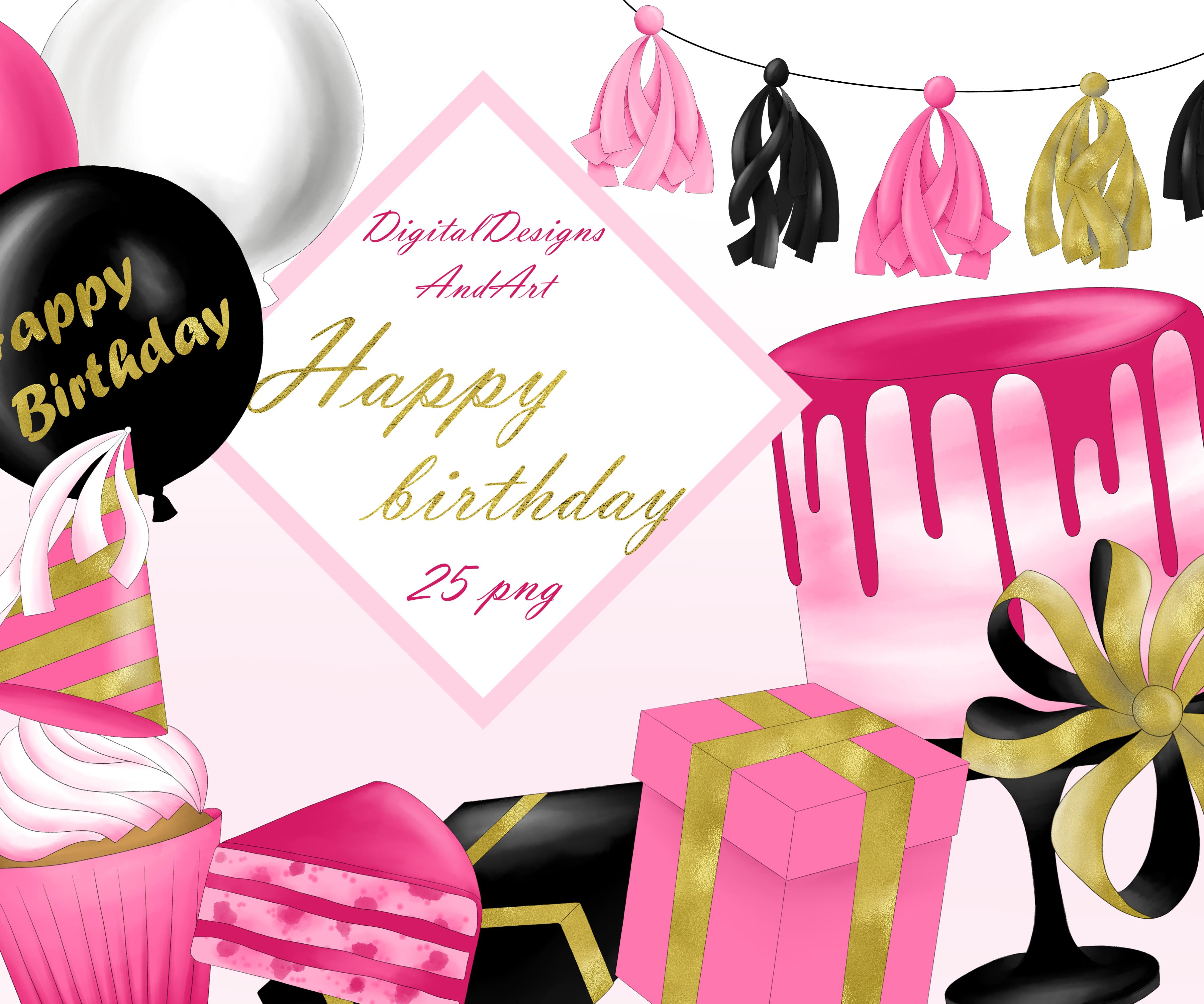 Happy birthday clipart example image 1