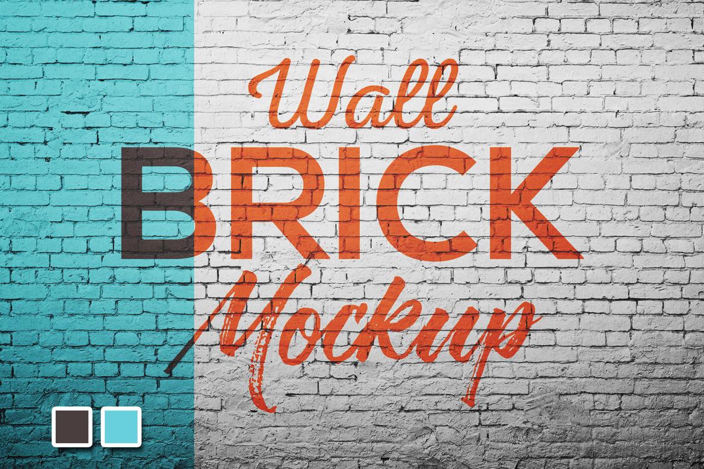 Wall brick Mock Up example image 2