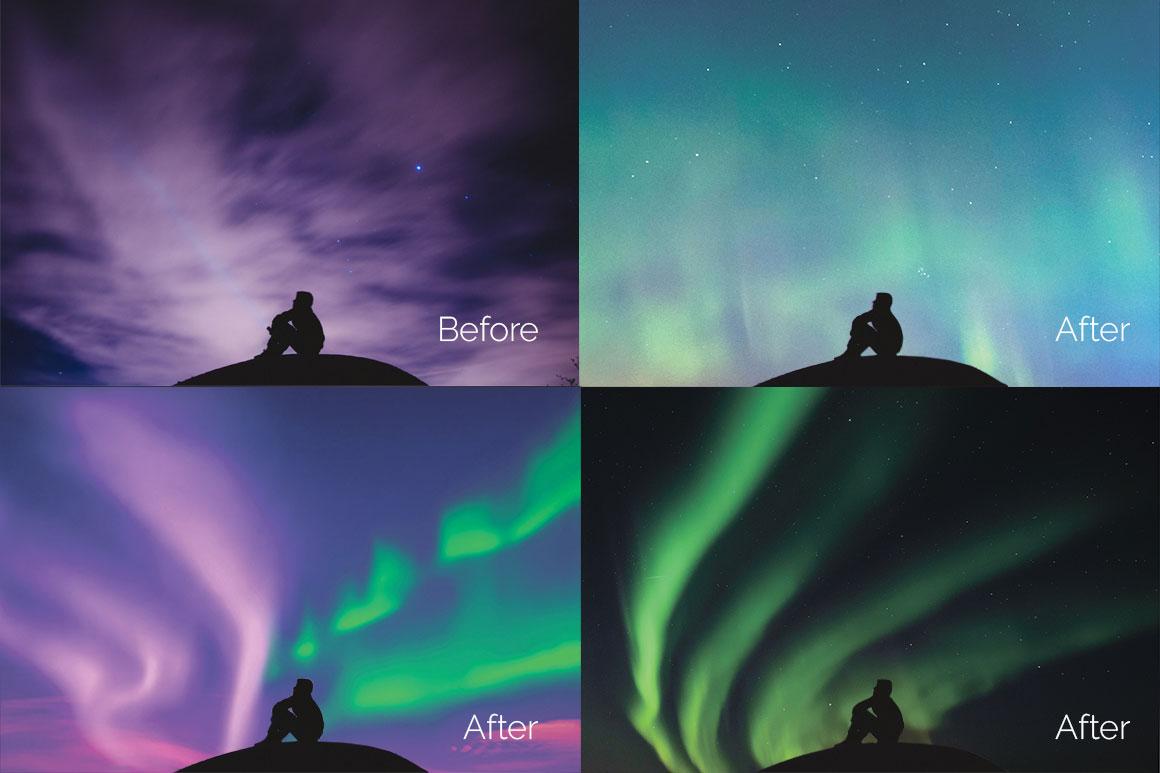 33 Aurora Borealis Photo Overlays example image 2