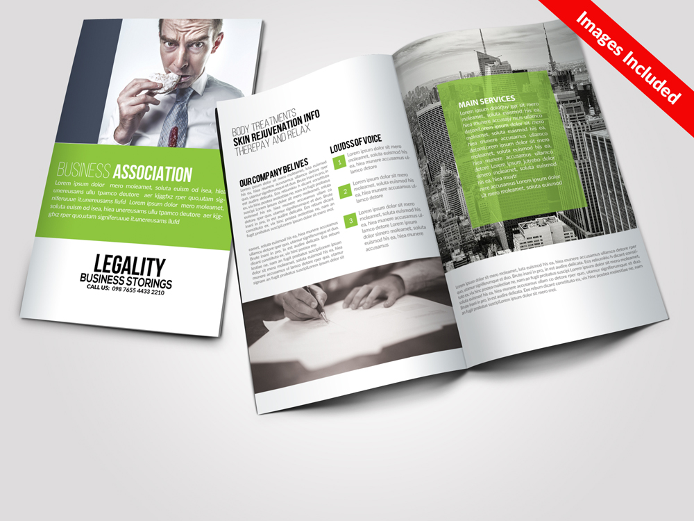 Multi Use Business Bi-fold Brochures Templates example image 1