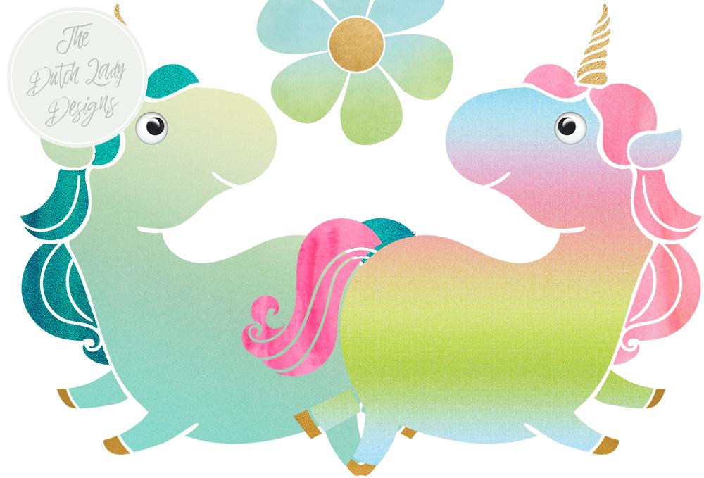 cute unicorn clipart - 1000×679