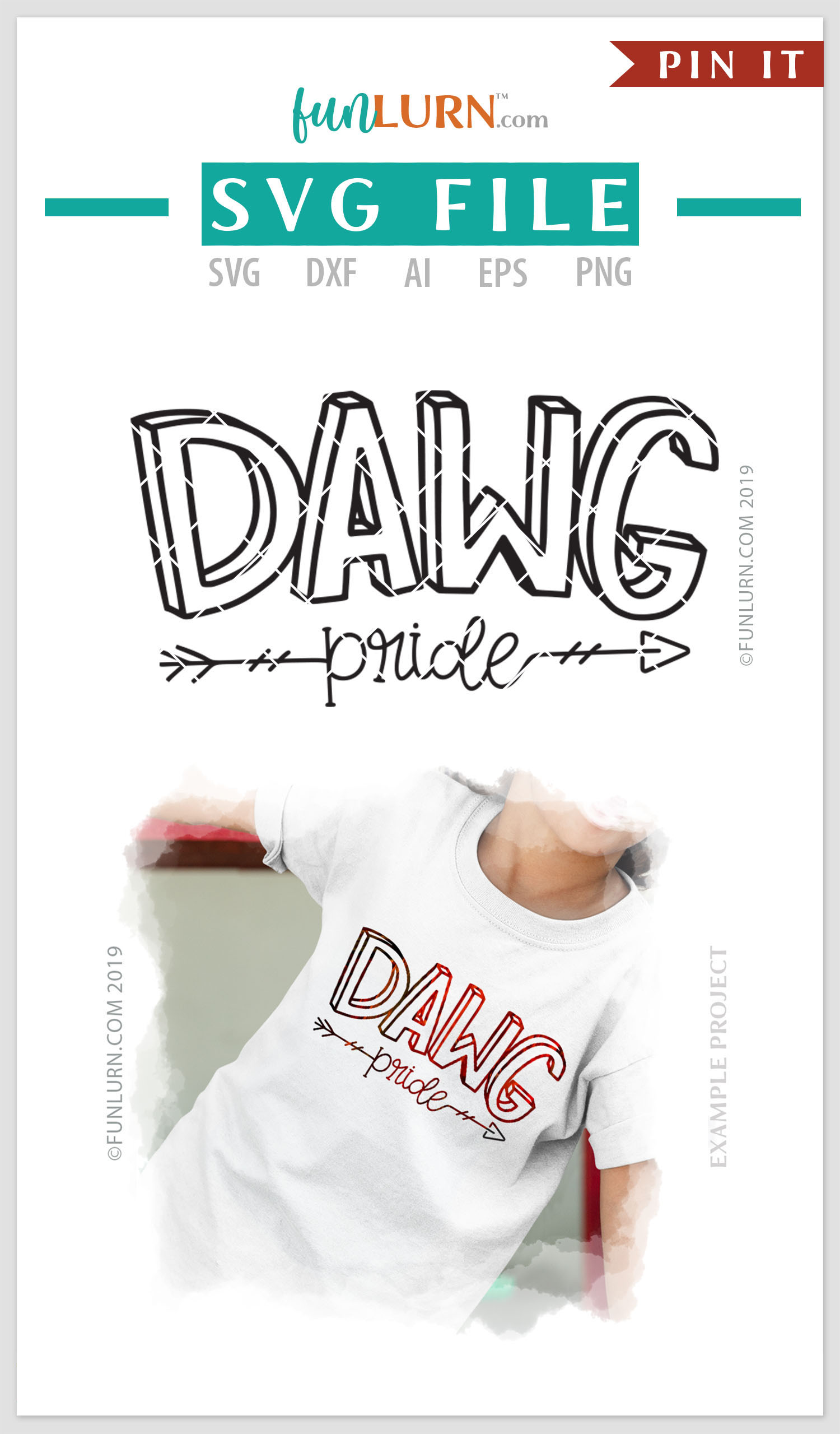 Dawg Pride Team SVG Cut File example image 4