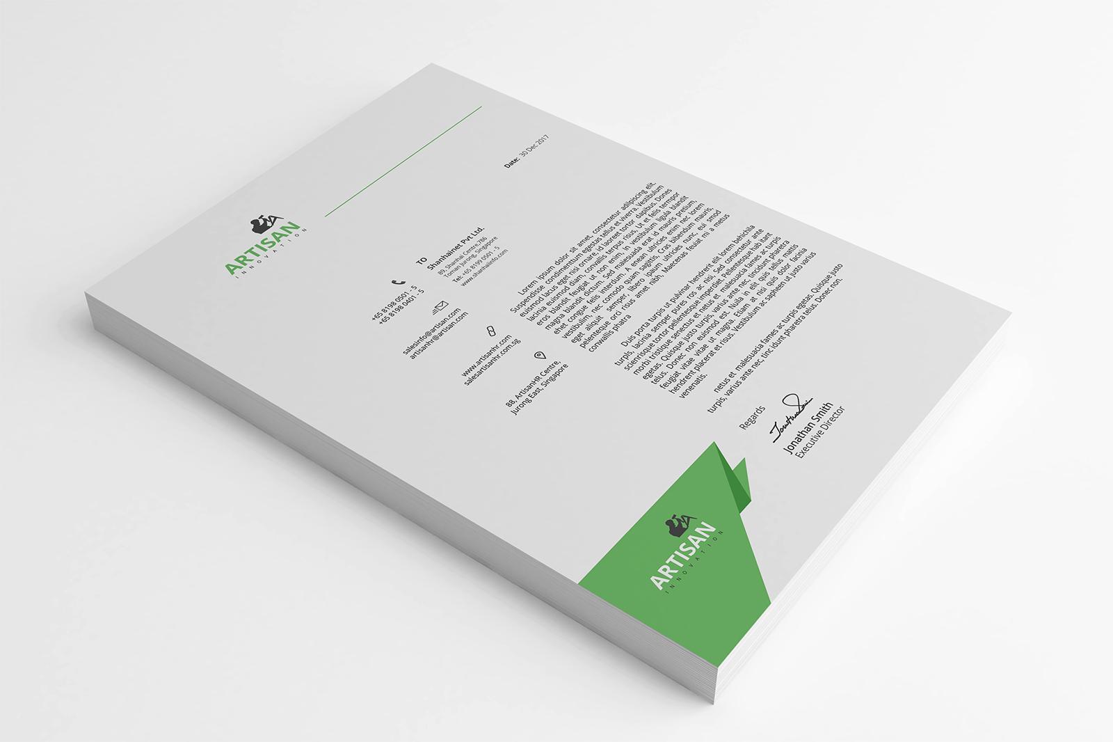 Modern Letterhead example image 2