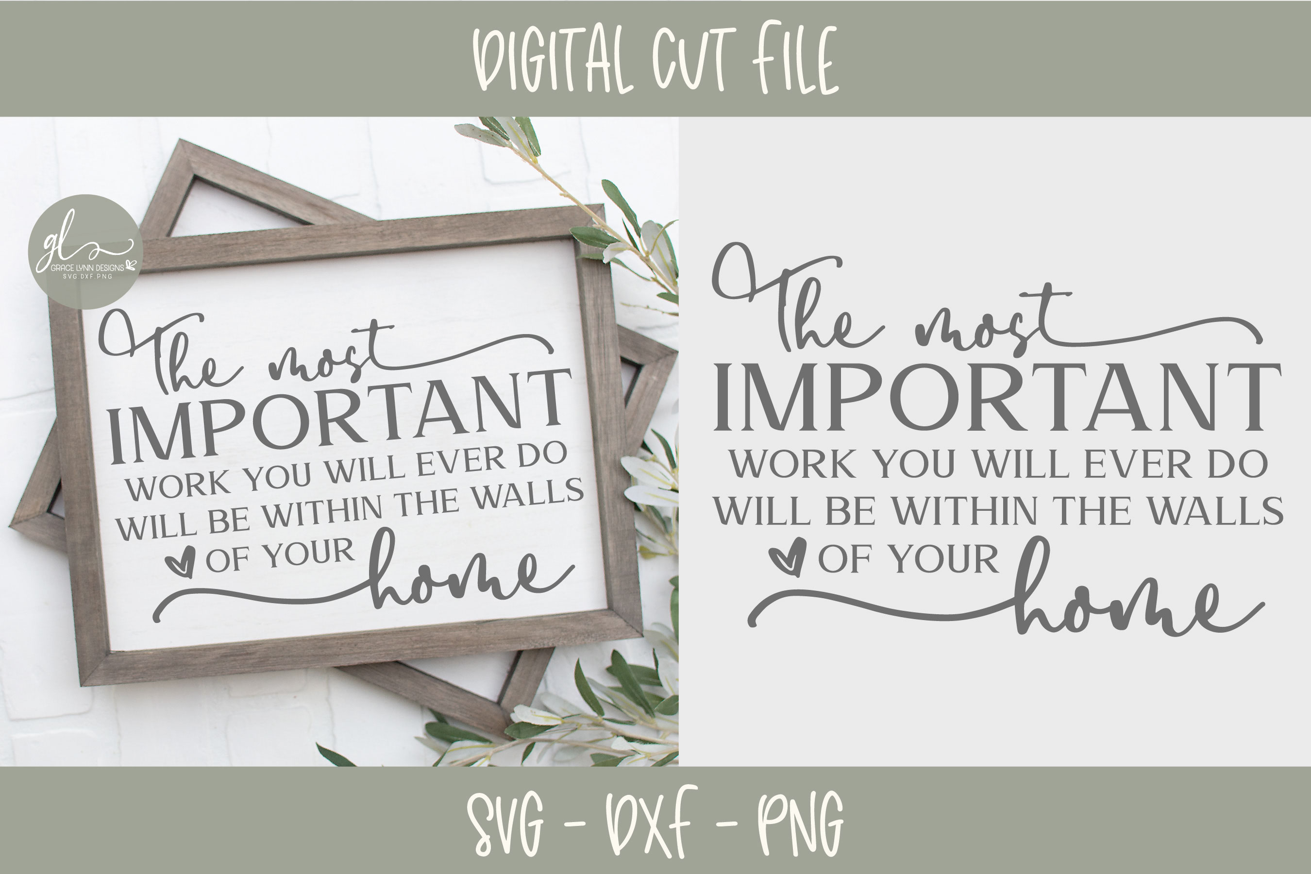 The Most Important Work You Will Ever Do - SVG Cut File example image 1