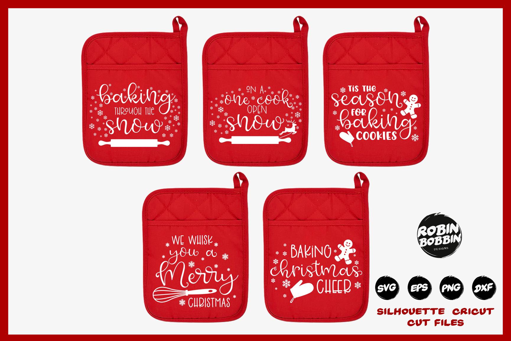 Christmas Pot Holder Bundle SVG - Vol.1 example image 1