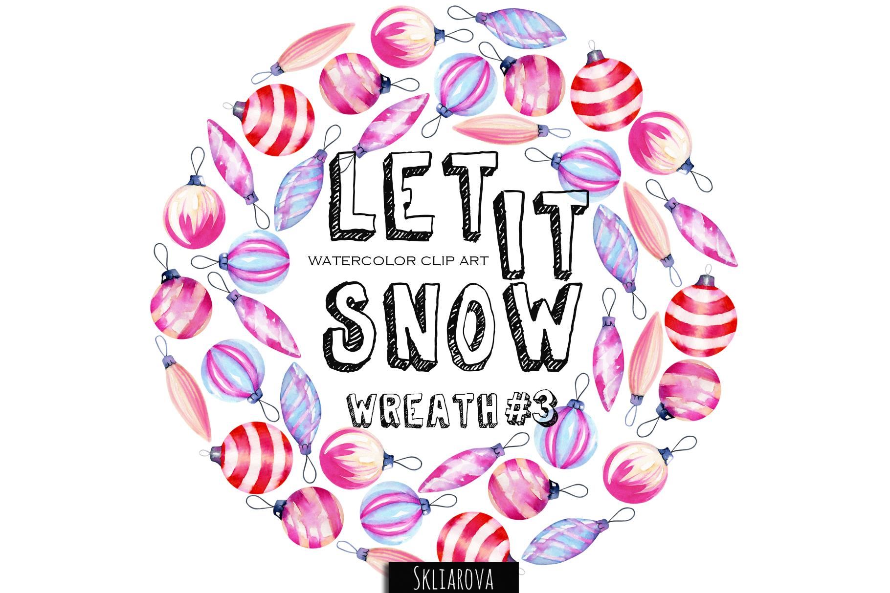 Let it snow. Wreath #3 example image 1