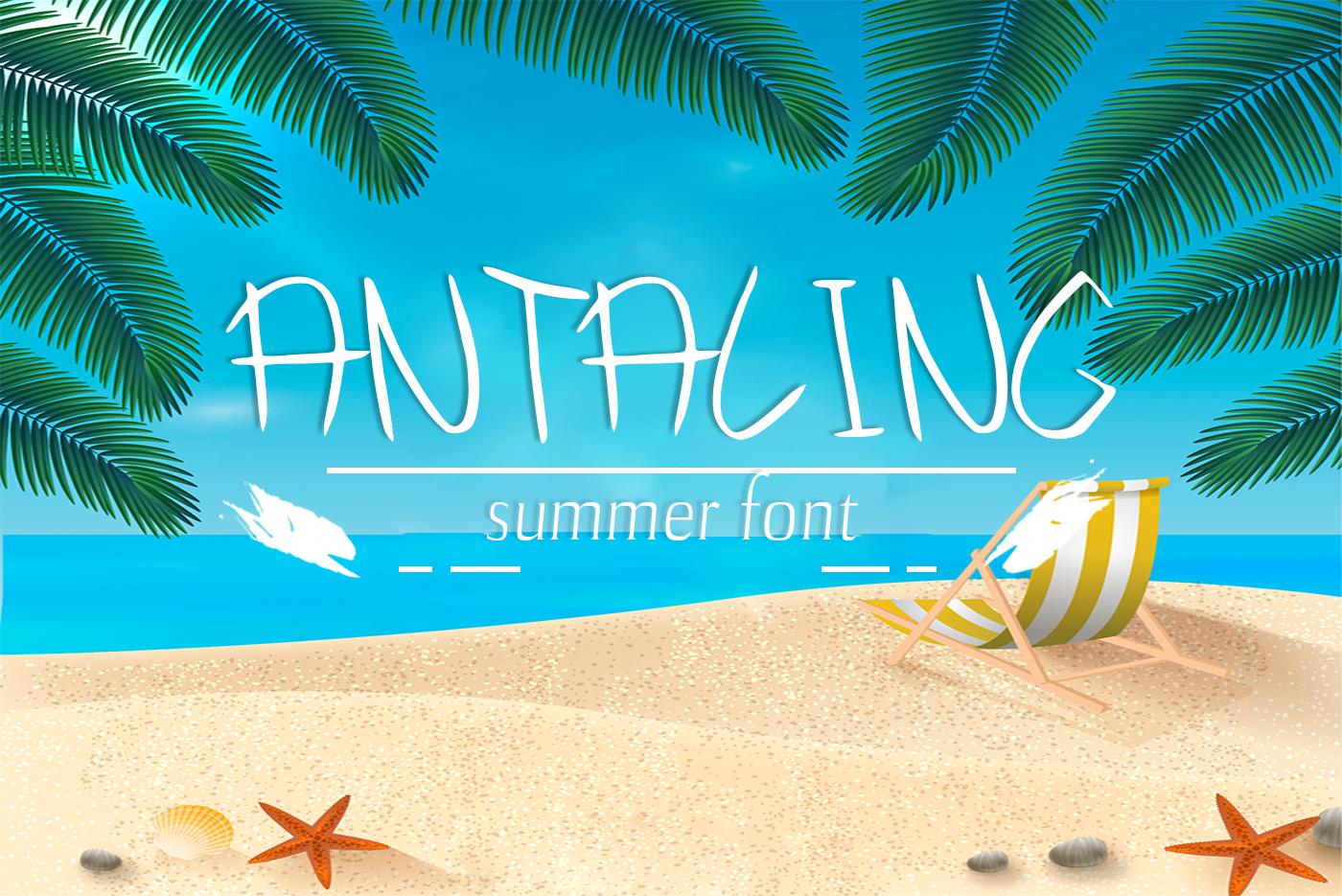 Antaling Summer Font example image 1