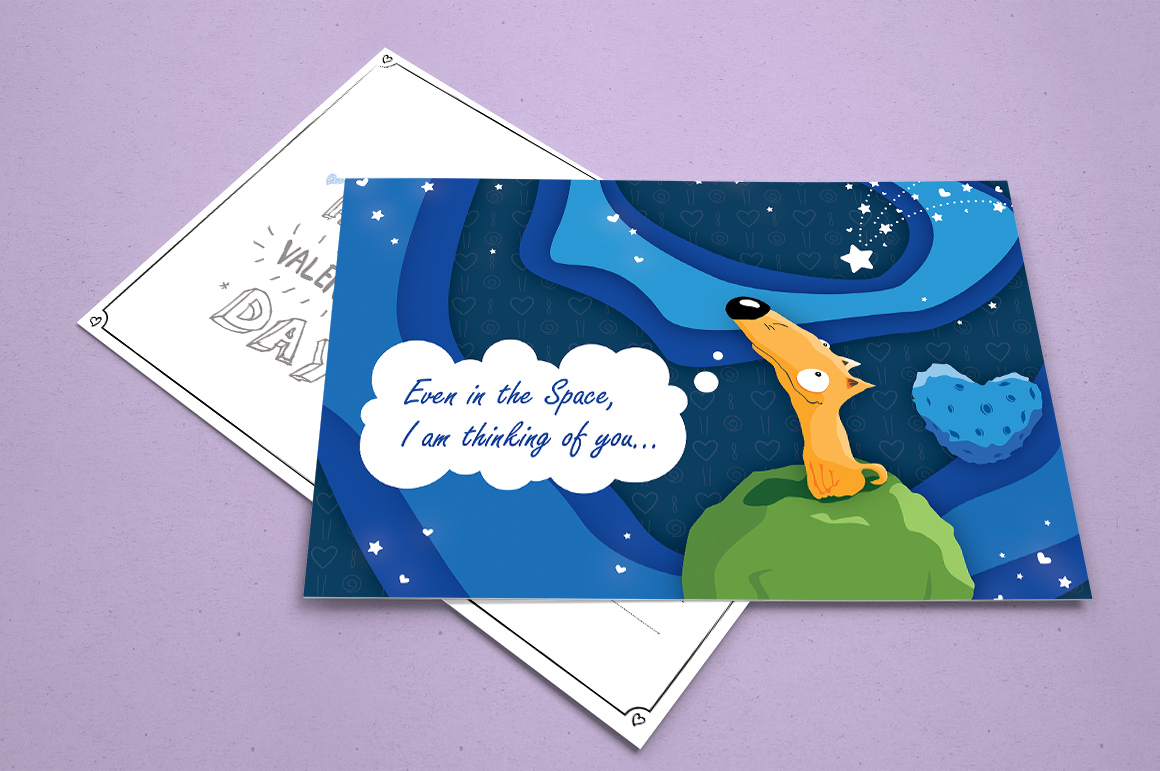 Dreaming Valentine greeting cards example image 8