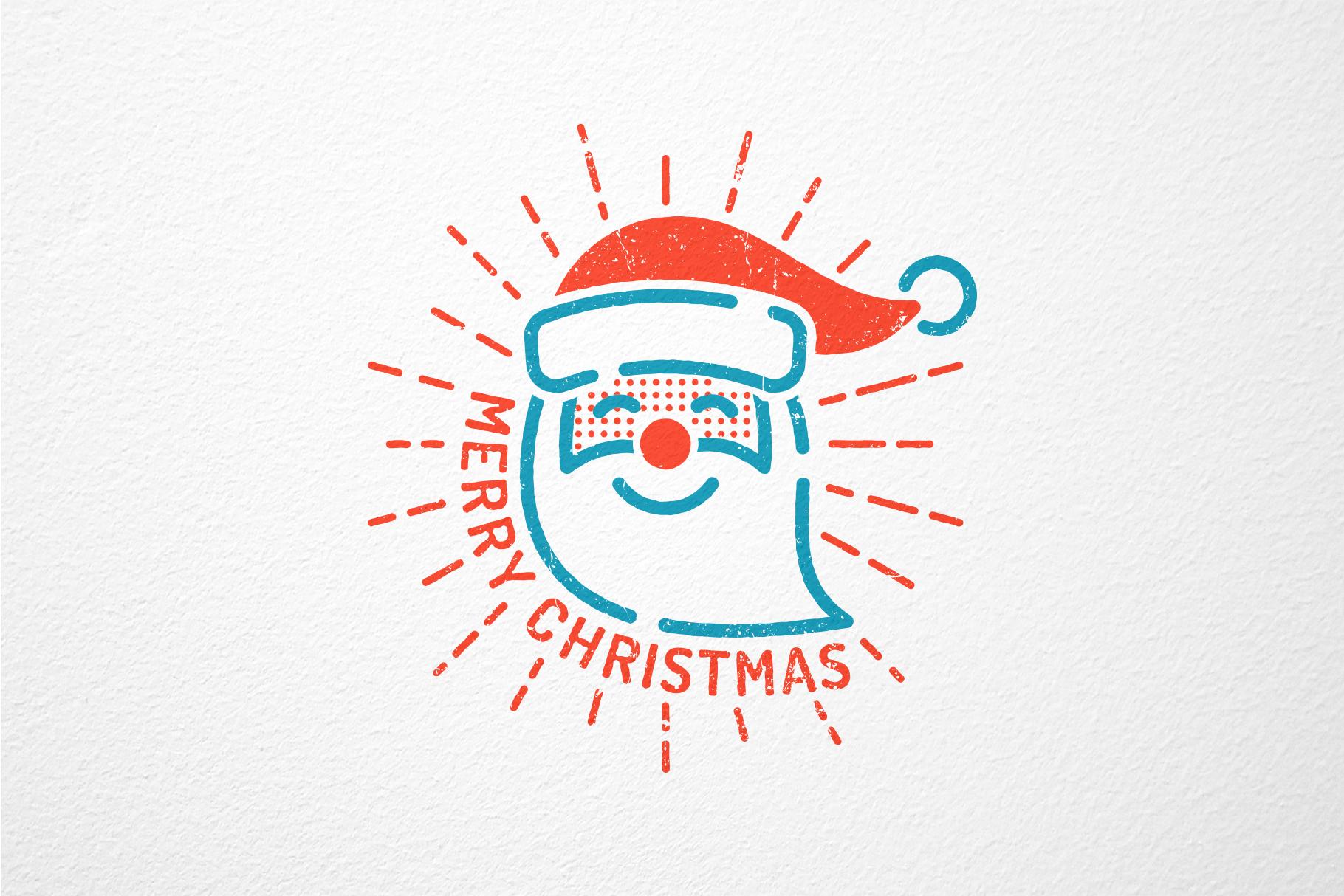 Christmas New Year Icons Set example image 3