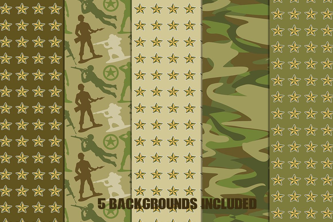 Little Green Army Men Clip Art example image 2