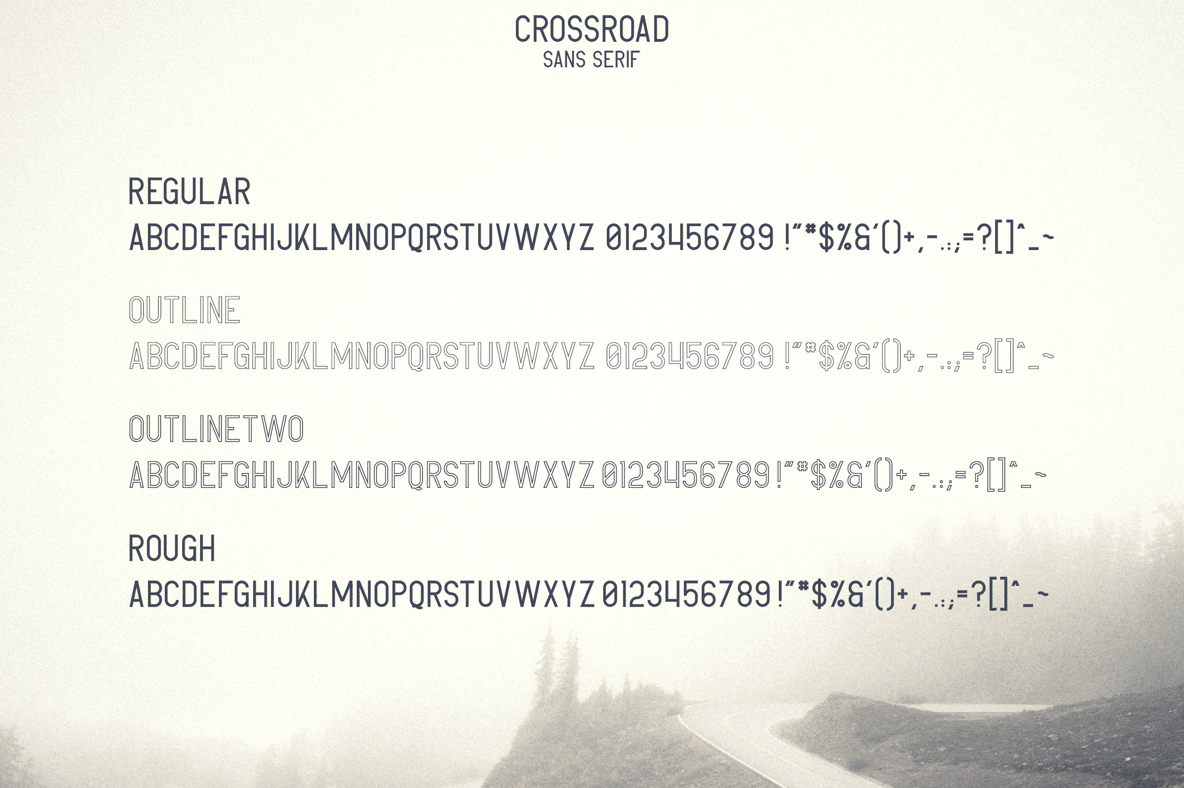 Crossroad -Vintage typeface|16 fonts example image 9