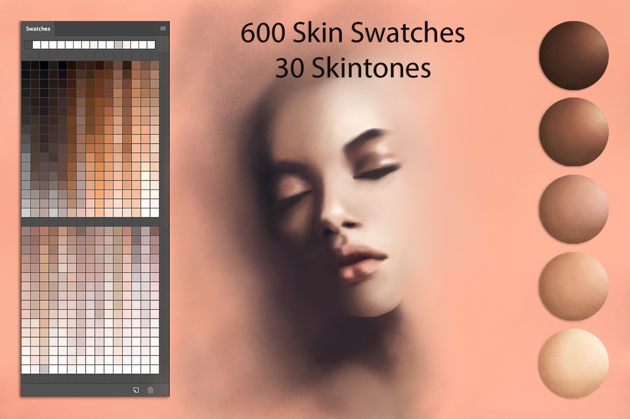 Skin Ps Swatches for Digital Painting example image 1