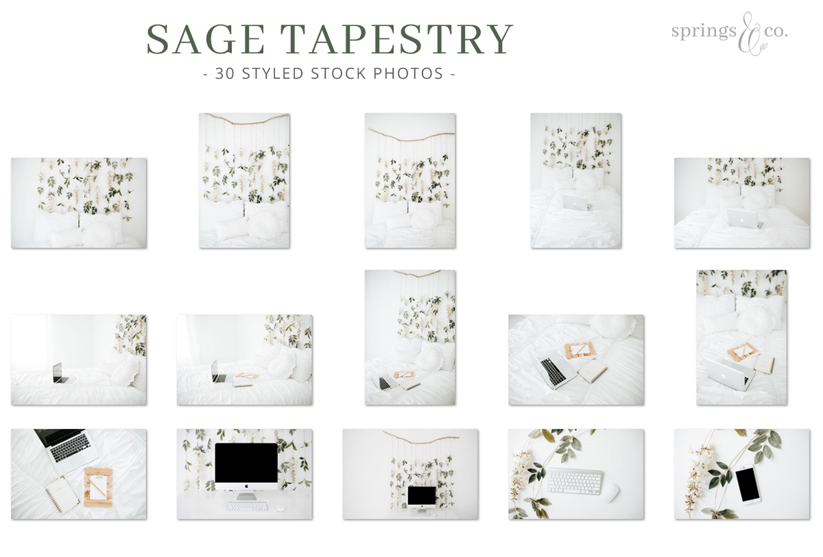 Sage Tapestry Stock Photo Bundle example image 2