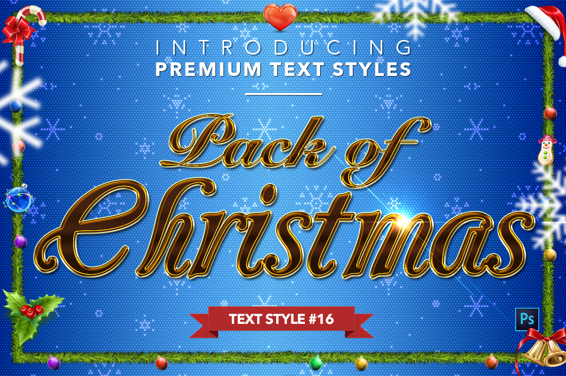 Christmas Pack #2 - 20 Text Styles example image 17