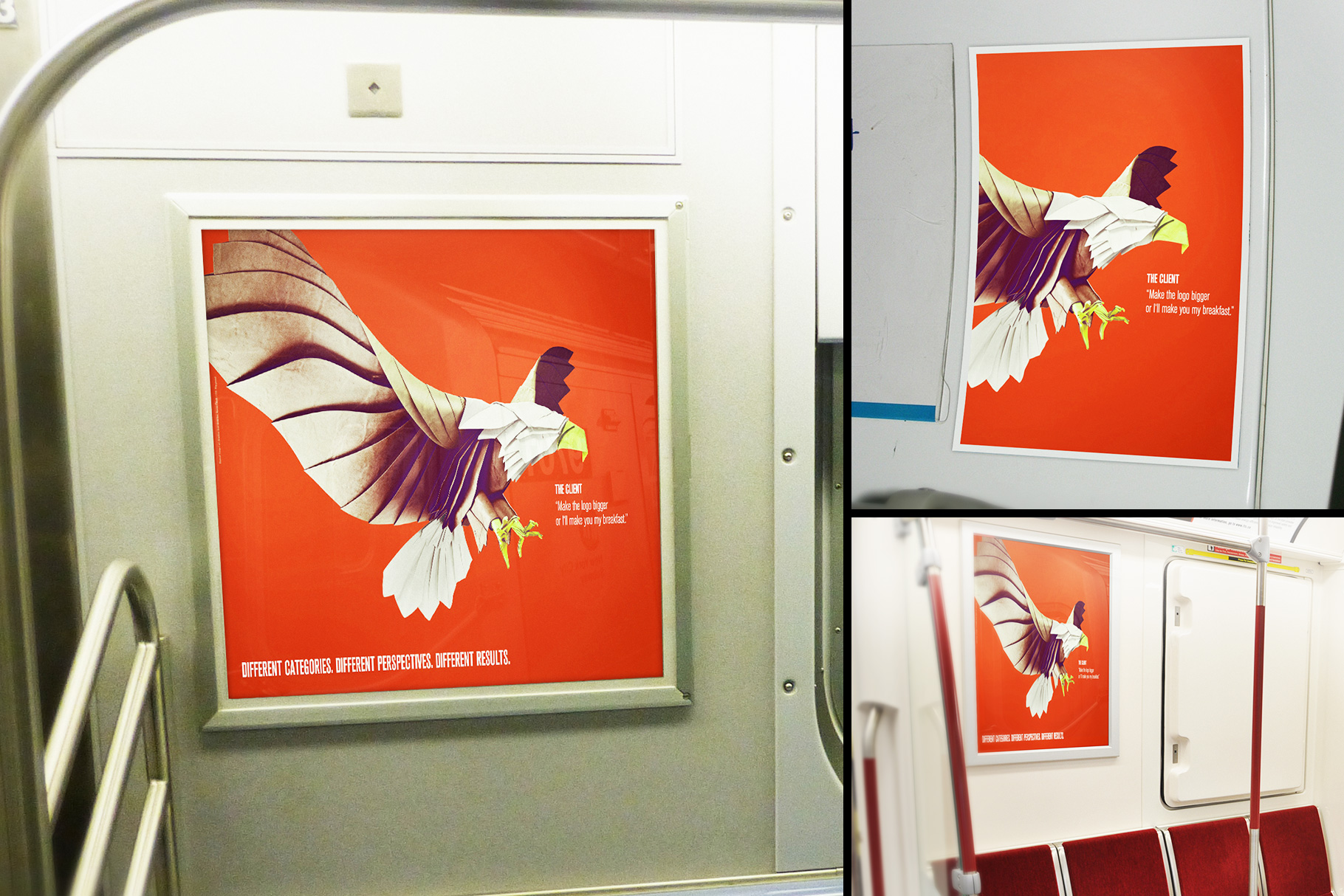 Subway Train Poster Mockup Templates example image 1