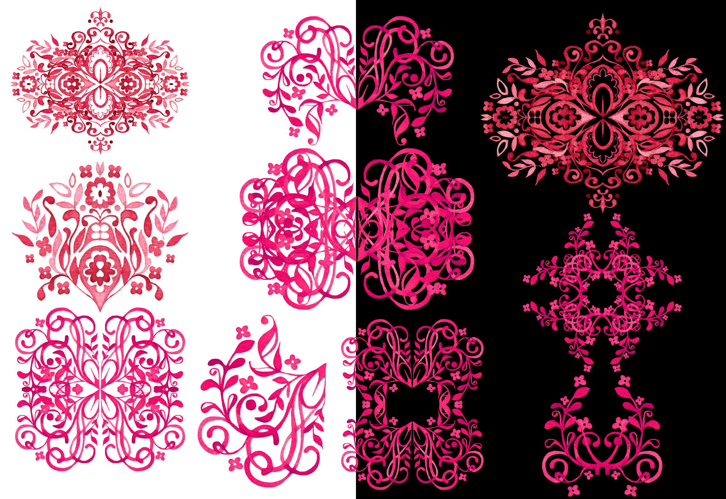 Hand Drawn Watercolor LACE example image 5