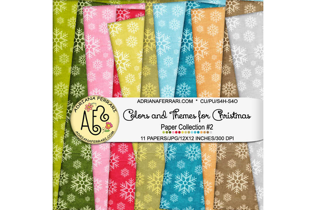Colors and Themes for Christmas Papers 2 example image 1