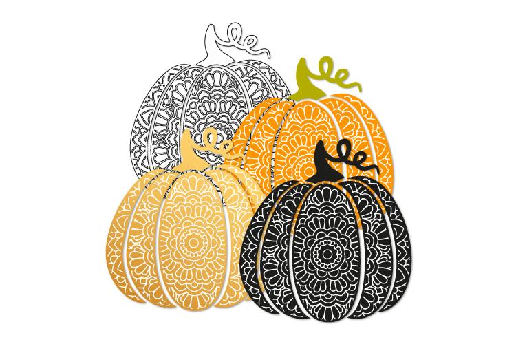 Bohemian scroll pumpkin svg. Fancy pumpkin example image 2