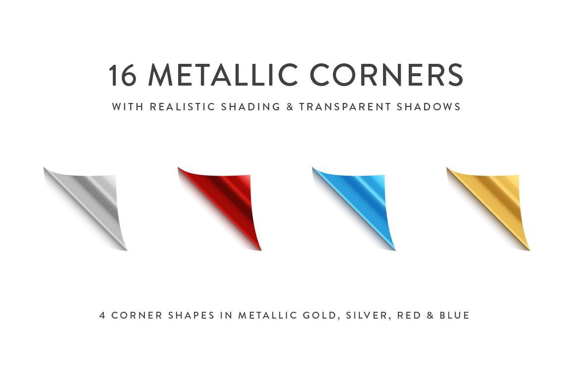 Curling Paper Corner Folds Set example image 8