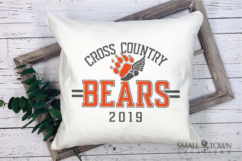 Bear Cross Country, Paw Print, Team, PRINT, CUT & DESIGN example image 3