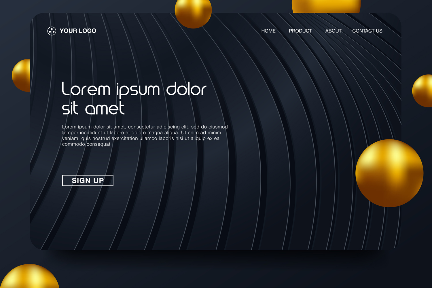 20 - Abstract background design. Landing page template example image 9