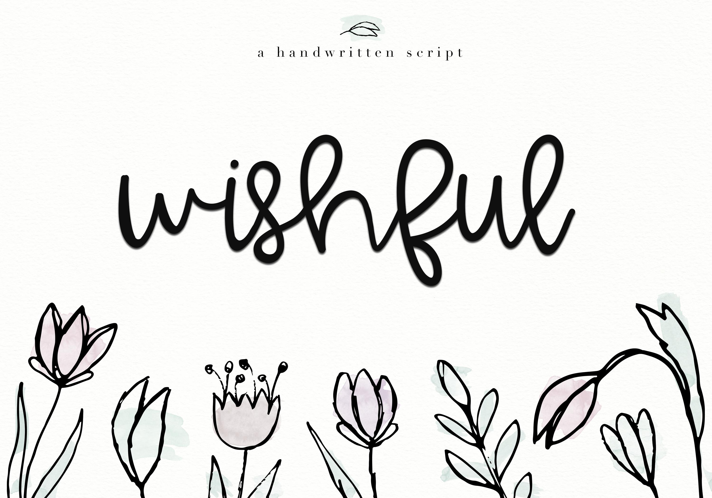 Wishful - Bold Handwritten Script example image 1