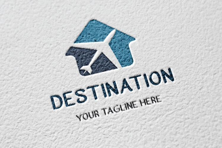 Travel Hut Shape Logo example image 2