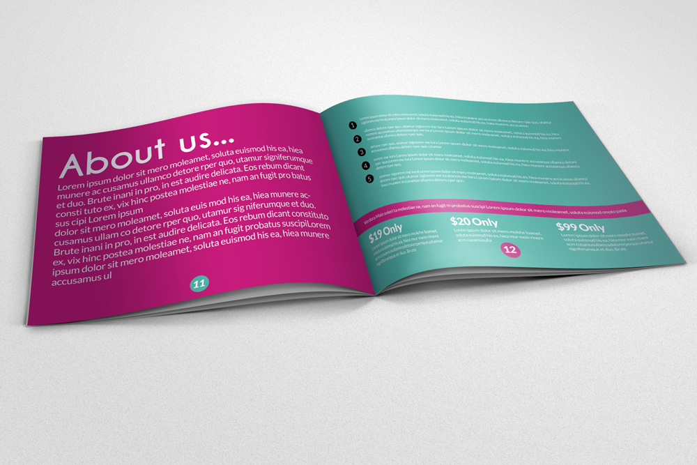 20 Pages Multi Use Minimal Square Brochure example image 3