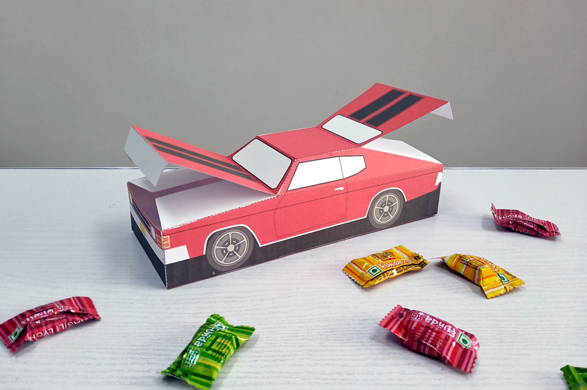 DIY Chevelle Car favor - 3d papercraft example image 4