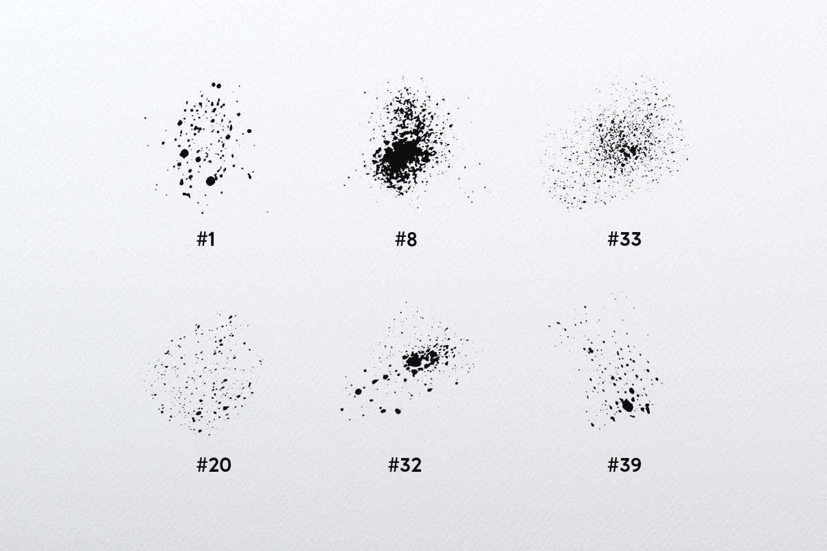Splatter Brush Collection example image 2