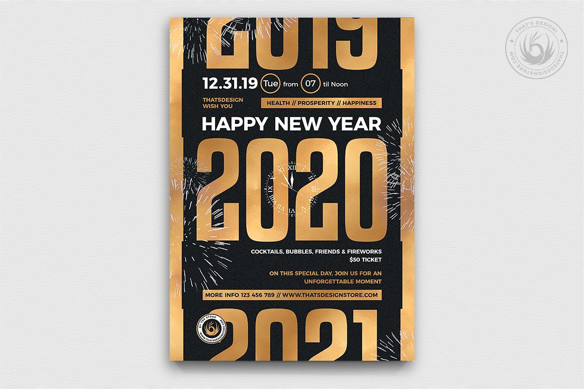 10 New Year Flyer Bundle example image 11