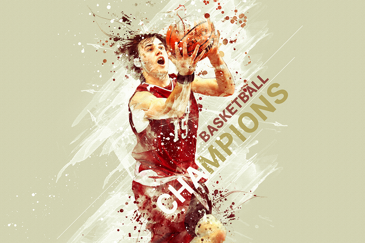 Sports Modern Art Photoshop Action example image 13