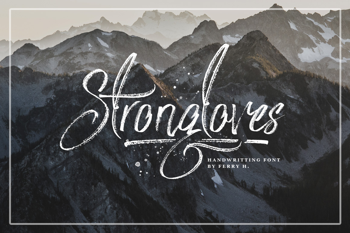Strongloves - Handwritting Font example image 2