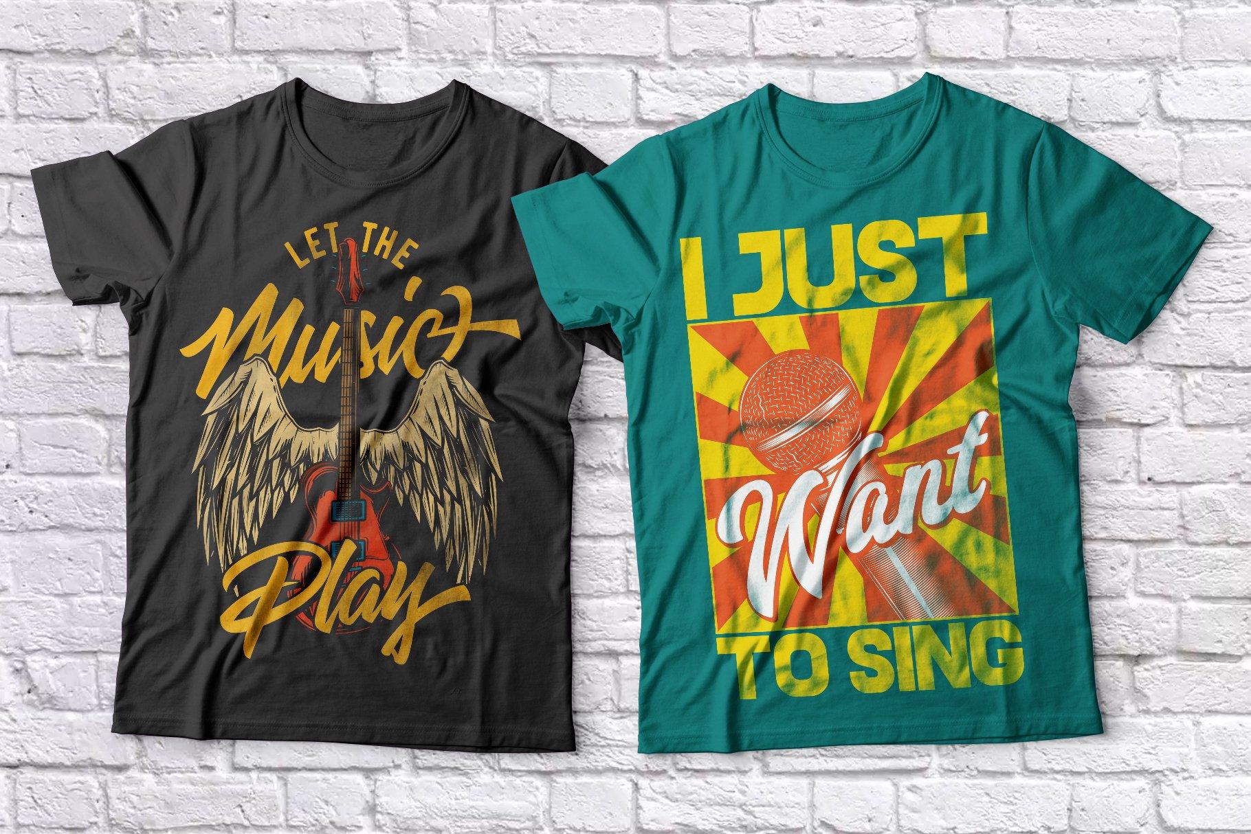 Music t-shirts set example image 2