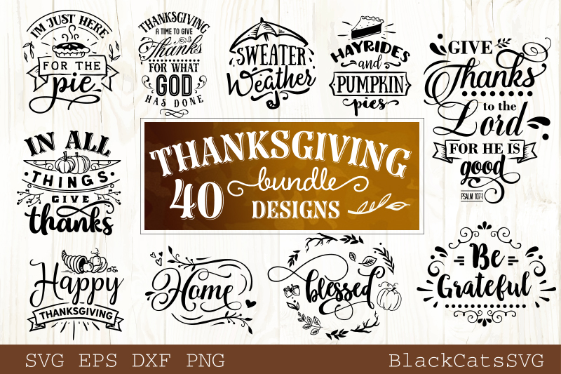 Thanksgiving SVG bundle 40 designs Fall and pumpkins SVG bun example image 5