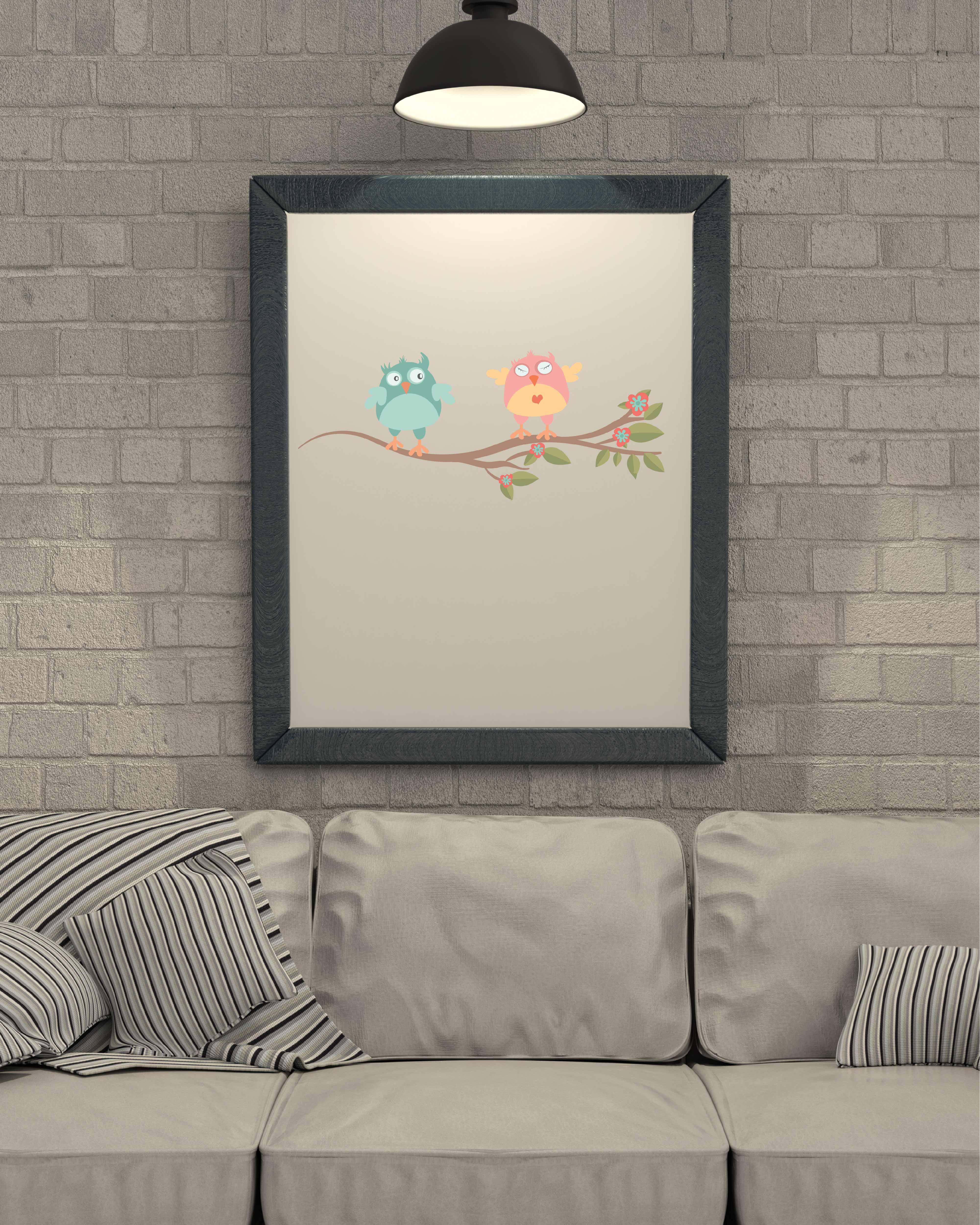Spring Owl's nest illustration Vector Pack example image 2