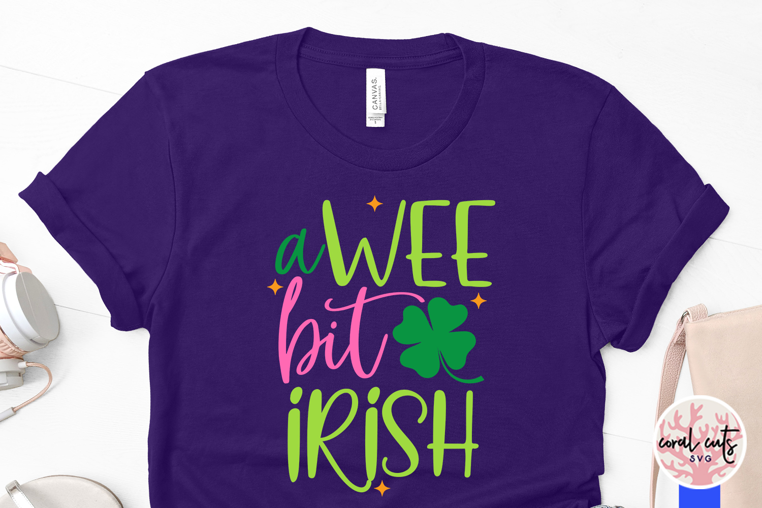 A wee bit irish - St. Patrick's Day SVG EPS DXF PNG example image 3