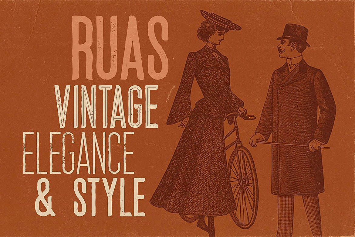 Ruas - Vintage Style Font example image 4