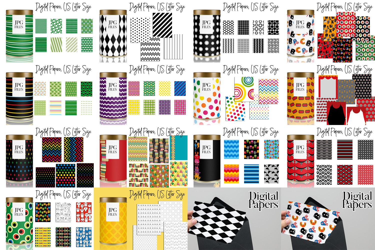 Digital Papers Bundle Vol. 2 - Background Patterns example image 2