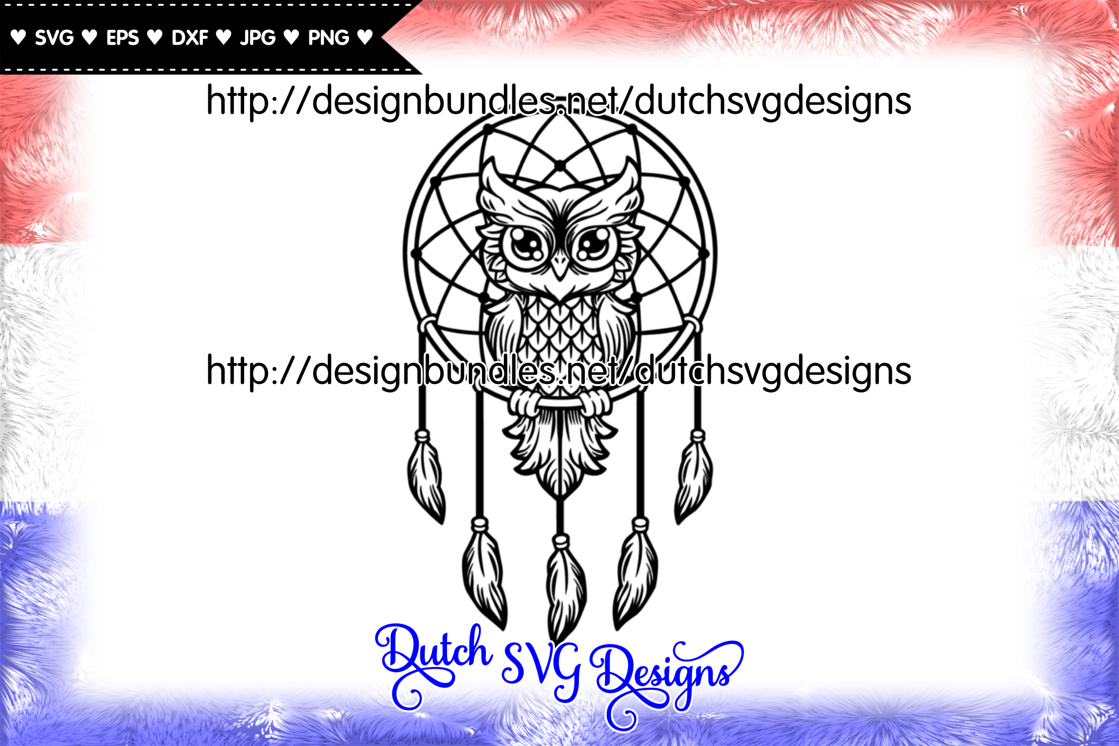 Dreamcatcher cut file with owl, dreamcatcher svg, owl svg example image 1